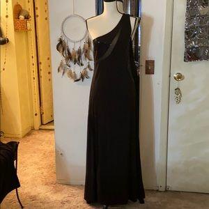 🌻🌻Venus black sequin maxi dress